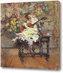 Картина Гитаристка