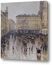 Картина Вид на Мариенплац в Мюнхене