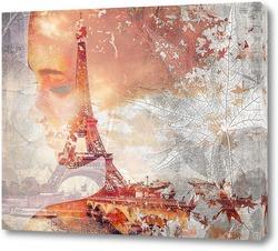 Картина Эйфелева башня в Париже