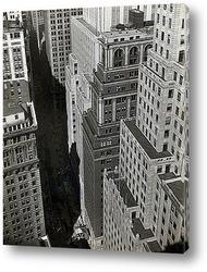 Уолл Стритт в тени небоскребов,1930-е.