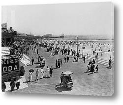 Картина Купающиеся на пляже,Атлантик-Сити,1915г.