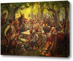 Картина Събранието на Оборище 1876 Димитър Гюдженов