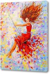 Картина Девушка на качели