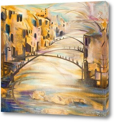 Город, мосты и река