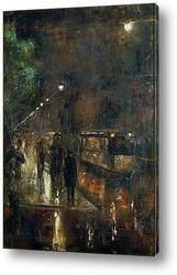Картина Ночные огни Берлина, 1919