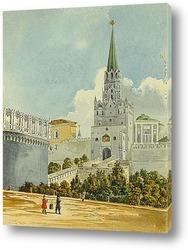 Троицкая башня и мост. Середина XIX века.