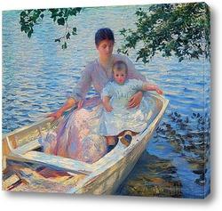 Мать и ребенок в лодке