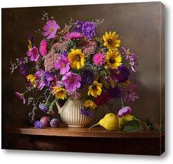 Картина Сентябрьский букет с фруктами