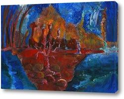 Картина Марсианка и Красное дерево