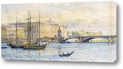 Картина Вид Санкт-Петербурга из Невы