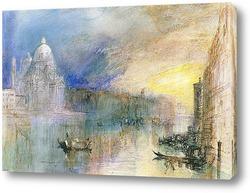Венеция, Большой канал с Санта-Мария-делла-Салюте