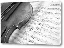 Картина скрипка с нотами