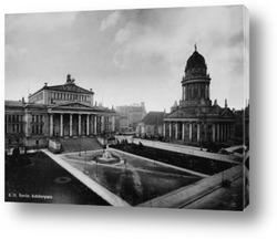 Картина Шиллерплац в Берлине,1890г.