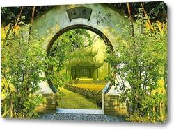 Картина  Китайский сад