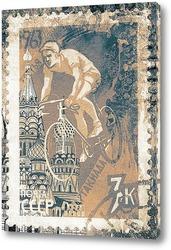 Картина Велогонка в Москве