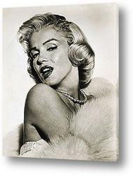 Картина Мерелин Монро,публичное фото.