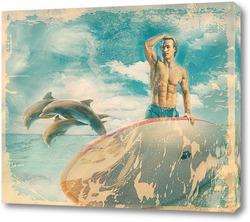 Сёрфинг и дельфины