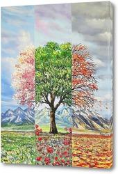 Картина Три настроения в природе