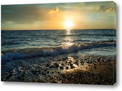 Картина Закат над морским пейзажем