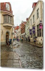 Картина Таллин старый город улица