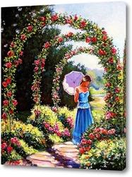 Картина Аллея роз