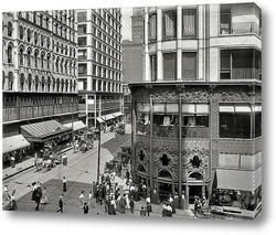Картина Мэдисон и Стейт стрит, 1907
