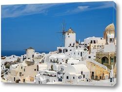 Картина Мельницы острова Санторини