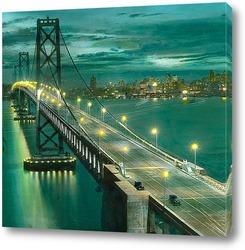 Картина Сан франциско, мост.