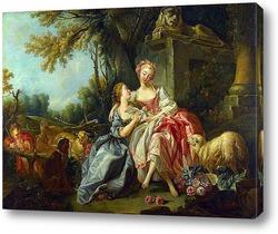 Светловласая одалиска (Портрет м-зель Луизы О Мерфи)