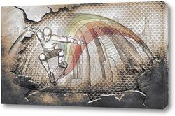 Картина Скейтбордист