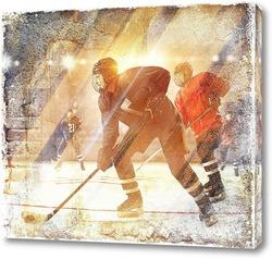 Картина Игра в хоккей