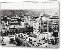 Картина Таганрогский проспект и Московская улица в деталях 1910  –  1917