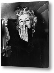 Картина Мерлин Монро посылающая воздушный поцелуй,1956г.