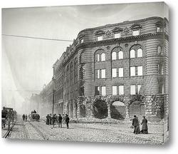 Картина Рыночная улица в тумане после землетресения и пожара, Сан-Франциско, 1906