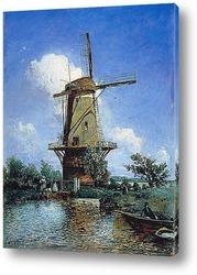 Картина Ветряная мельница в Делфте