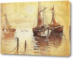 Картина Корабли в гавани