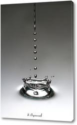 Картина Брызги от капли воды