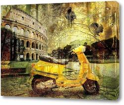 Картина Скутер и Колизей