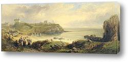 Картина Приорат и замок, старый маяк рядом