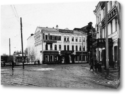Картина Перекресток Большой Покровской и Дворянской улиц 1900  –  1917