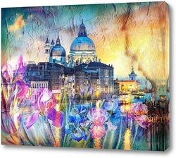 Картина Венеция и ирисы