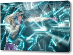 Картина Боксер с грушей