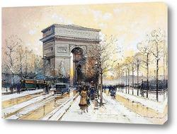 Триумфальная арка в снегу
