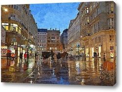 Картина Вечерняя Вена в дождь