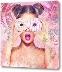 Картина Пончики с глазурью