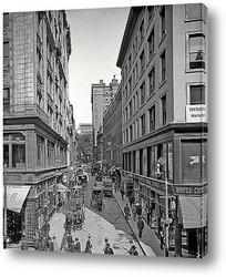 Картина Бромфильд стрит в Бостоне, 1908