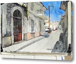 Картина на солнечной стороне улицы