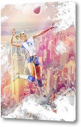 Картина Полет в волейболе
