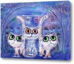 Три белых кота