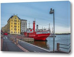 Картина Красный пароход